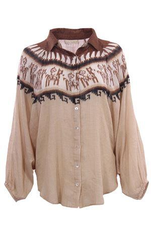 Camicia in cotone effetto poncho MESDEMOISELLES | 5032279 | 20WCHAVINNATURALCOMBO