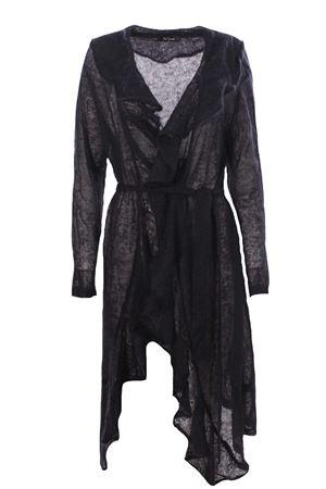 Long cardigan with ruffles MESDEMOISELLES | -161048383 | 20WMINAUDEBLACK