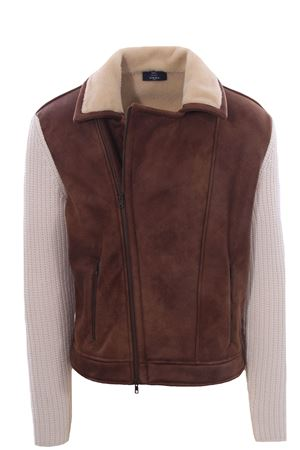 Faux sheepskin and knittend jacket