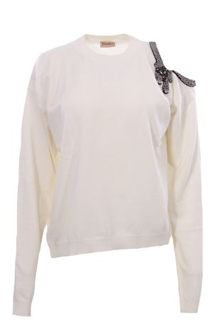 Crew neck with swarosky NUDE | -161048383 | 1101065165