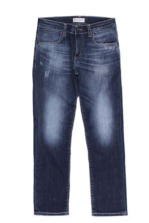 Jeans cinque tasche in denim stretch PAOLO PECORA | 24 | PP2490BLU