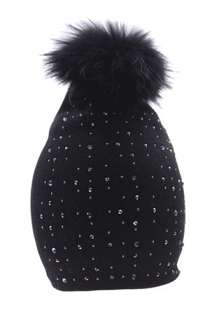Hat with rhinestone
