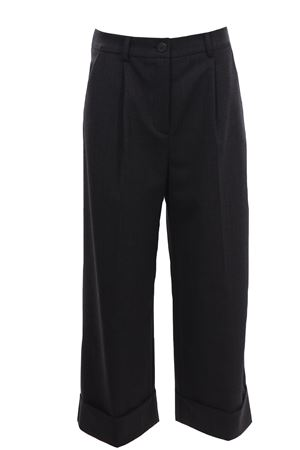 Pants with cuff and pleats