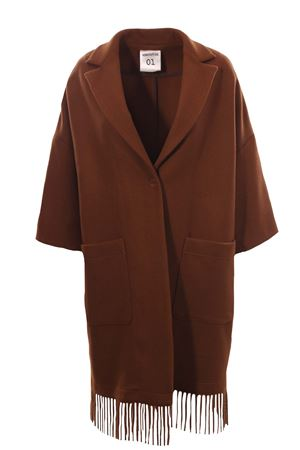 Wool coat with fringes SEMICOUTURE | 5032278 | W0YY0WV04U790