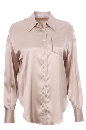 Camicia in seta BRUNELLO CUCINELLI | 5032279 | M0C59NC346C824