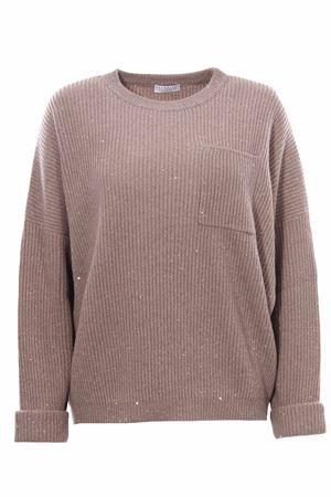 Girocollo in cashemere e lana costa inglese BRUNELLO CUCINELLI | -161048383 | MBM755800C506