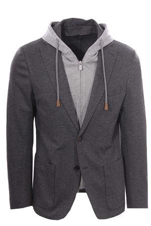 Bimaterial jacket with bib ELEVENTY | 5032284 | D70GIAD01BTCRNTES0D03914