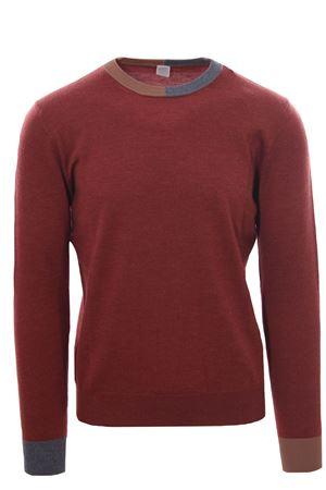 Girocollo in lana merinos con contrasti ELEVENTY | -161048383 | D71MAGD02MAG0D00109N