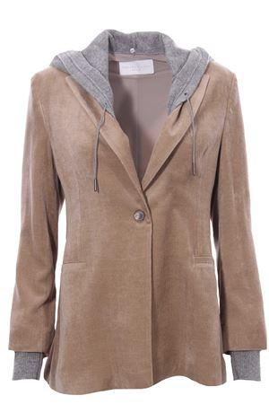 Velvet jacket with hood FABIANA FILIPPI | 5032284 | GCD221W210F5250122
