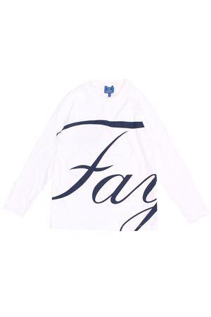 T-shirt con logo in cotone FAY | 8 | 5P8200Z0009101BL