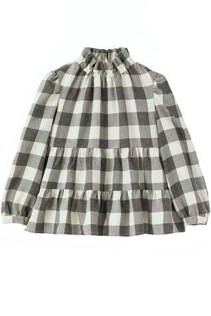 Camicia check arricciata IL GUFO | 5032279 | CL198R3001100