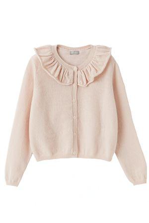 Cardigan in lana con rouches IL GUFO | -161048383 | GF364EM220304