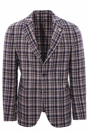 Cashmere checked jacket LARDINI | 5032284 | IP934AVIPA57545150BL