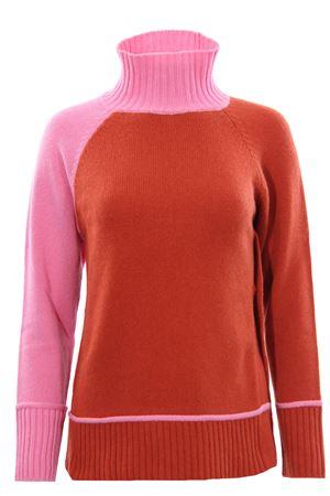 Collo alto in lana e cashmere bicolore MALIPARMI   -161048383   JQ8877431541C32