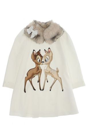 Dress with fur collar MONNALISA | 5032276 | 118929NB83060001