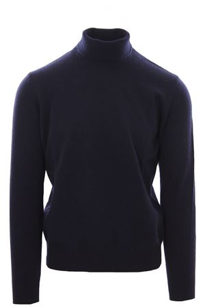 Collo alto in lana e cashmere N&L   -161048383   12305-LCBLU