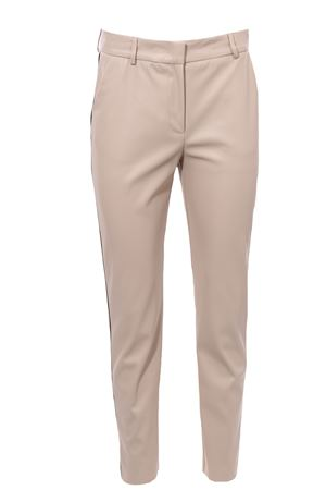 Pantaloni in ecopelle con piping laterale NUDE   5032272   110301601