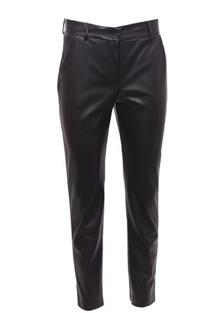 Pantaloni in ecopelle con piping laterale NUDE   5032272   110301609