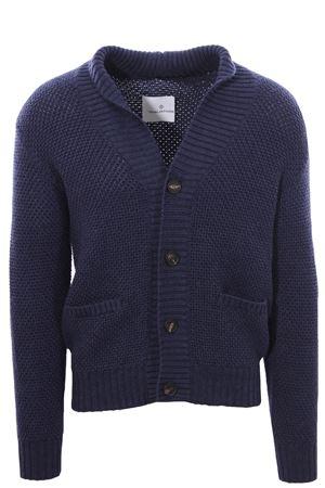 Cardigan in maglia a grana di riso TAGLIATORE | -161048383 | K8LLAPTGBLU