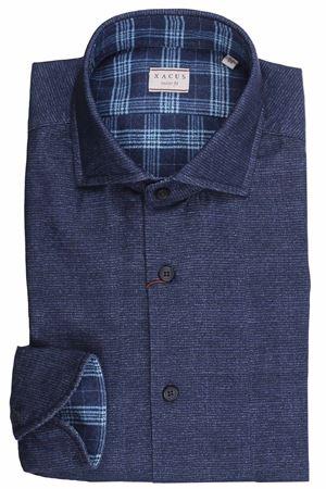 Double print cotton shirt XACUS | 5032279 | 91529ML748001