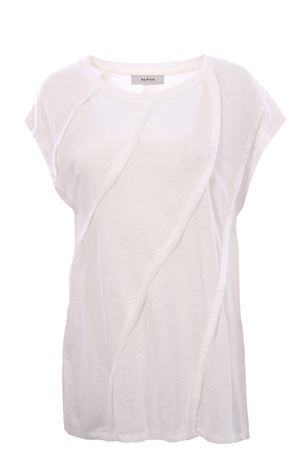 Linen t-shirt with fringes
