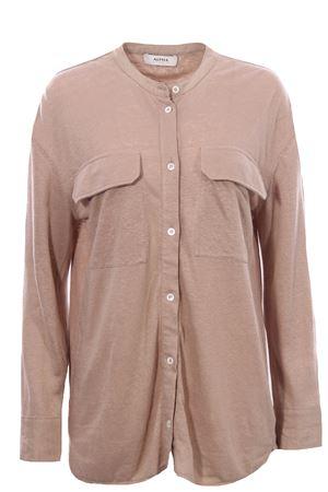 Camicia guru in jersey e tela di lino ALPHA | 5032279 | AD5674L2164