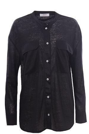 Camicia guru in jersey e tela di lino ALPHA | 5032279 | AD5674L2165