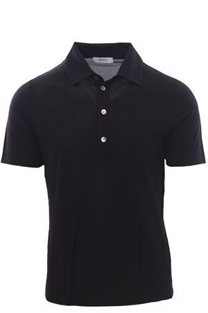 Polo camicia in piquet di seta e cotone ALPHA | 2 | AU4452/B1254