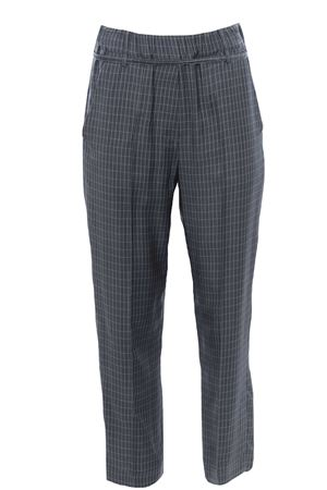 Checked pants with belt ALYSI | 5032272 | 101136P1044EUCALIPTO