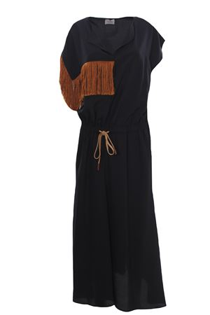 Long dress with fringes ALYSI | 5032276 | 101305P1032NERO
