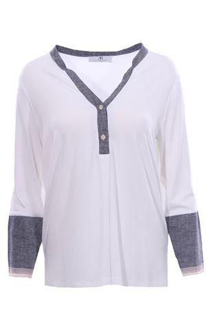 T-shirt girocollo con bottoni ANNA SERRAVALLI | 8 | S1133002/191