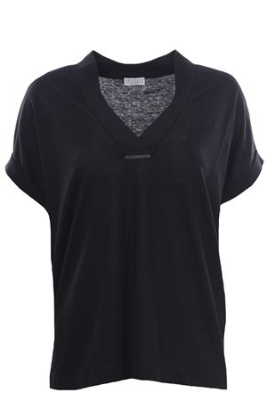 T-shirt in lino e seta BRUNELLO CUCINELLI | 8 | MF982BQ302C101