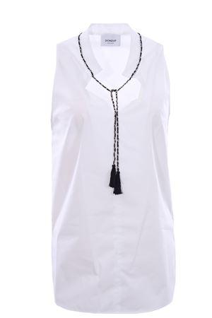 Camicia smanicata in cotone con catena DONDUP | 5032279 | DC202PS0012DXXX000