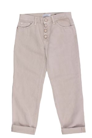 Cotton and linen jeans