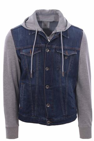 Denim jacket and sweatshirt with bib ELEVENTY | 5032285 | C70GBTC13TET0C02608