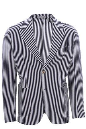 Giacca a righe in jersey di cotone armaturato ELEVENTY | 5032284 | C75GIAC12BTCCTES0C08111