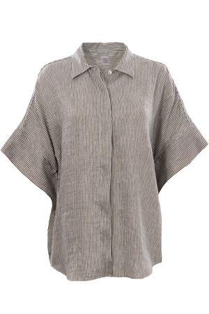 Striped linen shirt ELEVENTY | 5032279 | C80CAMC14TES0C14920