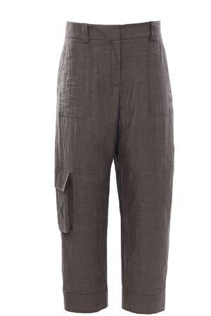 Pantalone combat in lino ELEVENTY | 5032272 | C80PANC03TES0C13820
