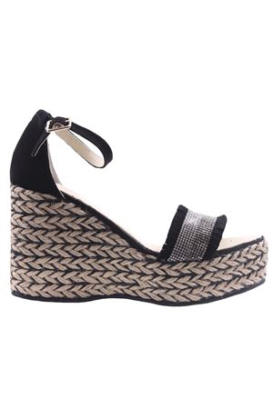 Leather and suede sandals