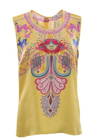 Silk top with print ETRO | 8 | 143679411700