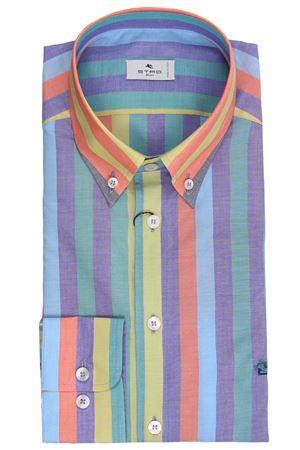 Regular striped shirt ETRO | 5032279 | 1636560148000