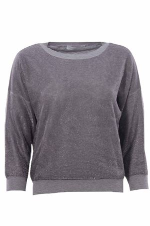 Cotton crew neck lurex effect