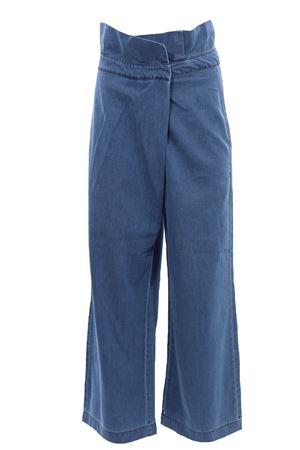 Jeans gamba larga in tela di cotone FEDERICA TOSI | 24 | FTE21PJ087BVDENIM0042
