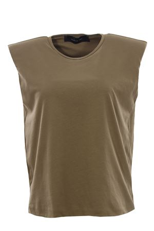 Cotton t-shirt with shoulder pads