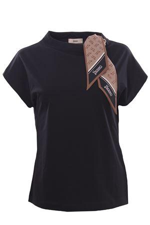 Cotton t-shirt with foulard HERNO | 8 | JG0015D520039300