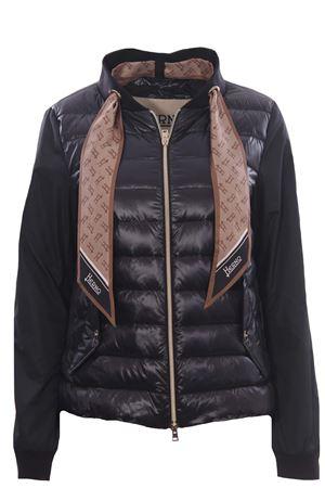 Piumino giacca bimateriale con foulard HERNO | 5032285 | PI1268D120179300