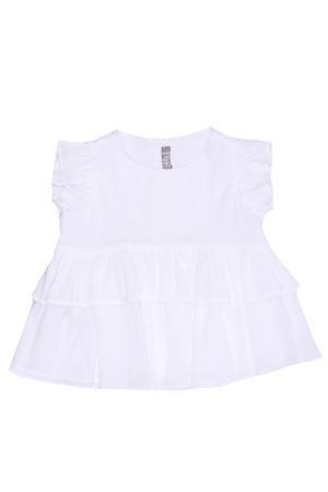 Cotton t-shirt with ruffles IL GUFO | 8 | P21TT067C0003010