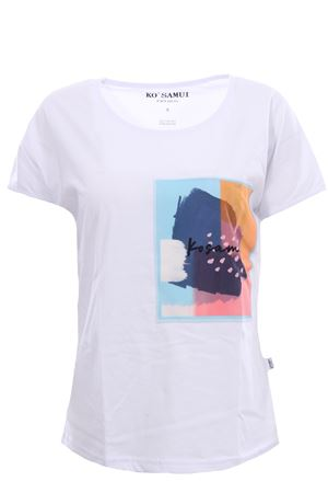 T-shirt in cotone detached KO SAMUI | 8 | TEE230BANDANAWHT