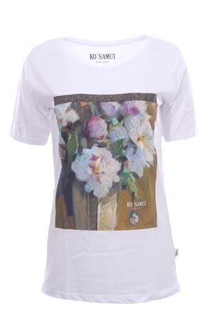 T-shirt in cotone con stampa amphora KO SAMUI | 8 | TFE212WHT