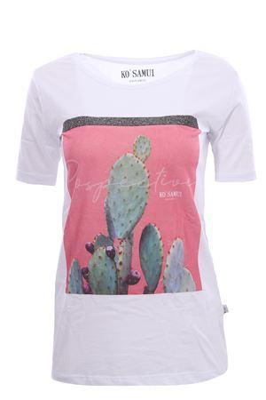 T-shirt in cotone con stampa figs KO SAMUI | 8 | TFE215WHT
